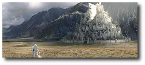 Peter Jackson's vision of Minas Tirith isn't the same as mine, but it is quite well known.  (Image:  Wikipedia)