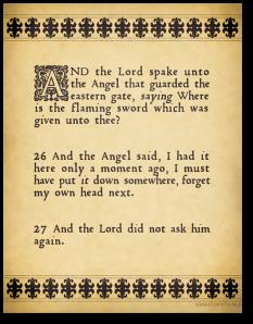"Text from ""Good Omens.""  Image from Lakshani Suranga."