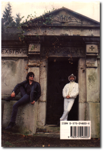 "Neil Gaiman and Terry Pratchett, ""Good Omens"" back cover photo (Source)"