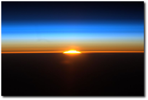 They see 16 sunrises a day on the space station, and still must take pictures of it! (Source)