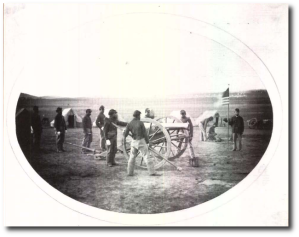 Battery A, 2nd US Colored Light Artillery, on the field later in 1864.  (Source - PDF)