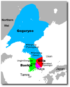 The Three Kingdoms of Korea back in the day.
