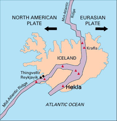 Wikipedia, with Hekla named.