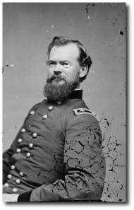 We're lucky even this damaged photo of General McPherson by Matthew Brady survived.  General Grant considered McPherson, with Sherman, the best general in the army.  (Library of Congress)