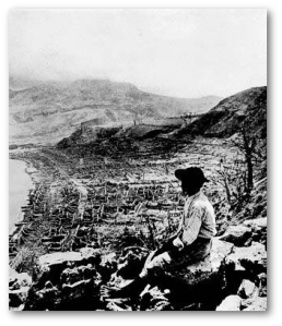 All but 2 of the almost 30,000 residents of Saint-Pierre, Martinique, died minutes after Mount Pelee erupted, sending down a lethal pyroclastic density current in 1902.