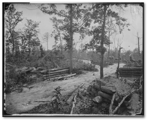 Confederate entrenchments after the battle of New Hope.  Matthew Brady (National Archives)