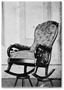 Lincoln's theater seat, April 14, 1865.  (Library of Congress)