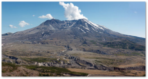 Mount St. Helens composite image by Ewen Roberts