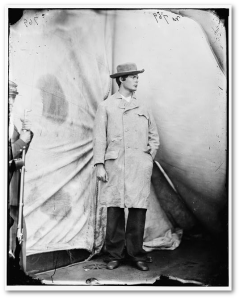 Lewis Powell, wearing the coat and hat he wore during the attack on Seward.  (Library of Congress)