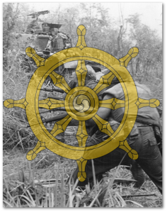 (Images:  Wheel by Esteban.barahona; soldiers by US Marine Corps; both via Wikipedia)