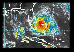 TS Arthur looks pretty good right now!  (Image:  NOAA)