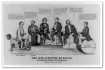 "Governor Brown got even less respect from Currier & Ives in 1861 when they showed him (second from right) saying, """"Georgia must have half the honors, and all the profits, or back she goes to old Pluribus Unum.'"" (Library of Congress)"