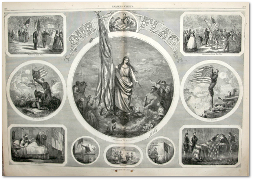 "Thomas Nast did a special drawing for ""Harper's Weekly.""  (Source)"