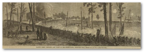"""Last fight of the Pennsylvania Reserves before the expiration of their term of service.""  A. R. Waud (Library of Congress)"
