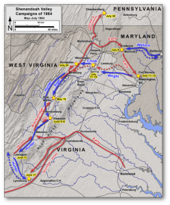 Shenandoah Valley Campaigns - look where Early's headed!  (Wikipedia)