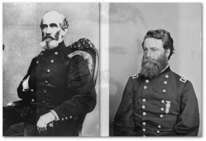 Three hardened generals in northern Mississippi:  A. J. Smith (left) and Joseph Mower (right), USA, and Nathan Bedford Forrest, CSA.  (All images from Library of Congress)