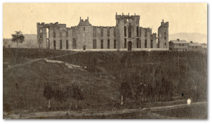 Virginia Military Institute after the raid.  (Source)