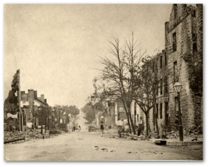 Chambersburg, Pennsylvania, after a visit by CS General Jubal Early.  (Source)