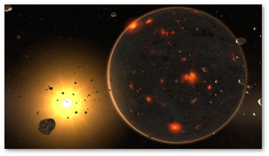 The Solar System wasn't a good place to be, 4 billion years ago.  (BBC)