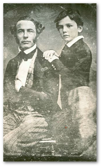 Robert E. Lee and son William Henry Fitzhugh Lee around 19 years earlier.  (Wikipedia)