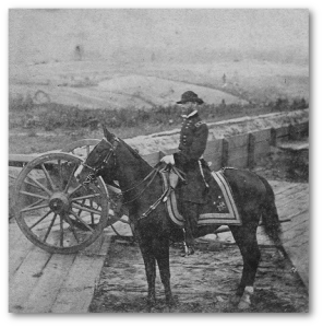 Matthew Brady photographed General Sherman near Atlanta.  (Library of Congress)