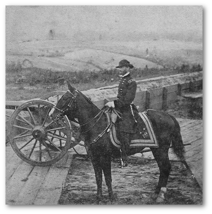 Matthew Brady photographed General Sherman near Atlanta.  (Library of Congress)