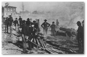 Later, in Atlanta, among white people and in possession of the city, Sherman's men didn't use IEDs.  (Image source)