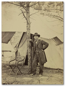 """Bulldog"" Grant also posed for this picture at his Virginia headquarters this August.  Library of Congress"
