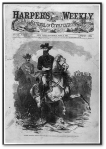 "That's General Grierson of Grierson's Raid in Mississippi in 1863, which Hollywood based ""The Horse Soldiers"" on.  (Image source)"