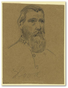 General John Bell Hood, CSA.  (A. R. Waud, Library of Congress)