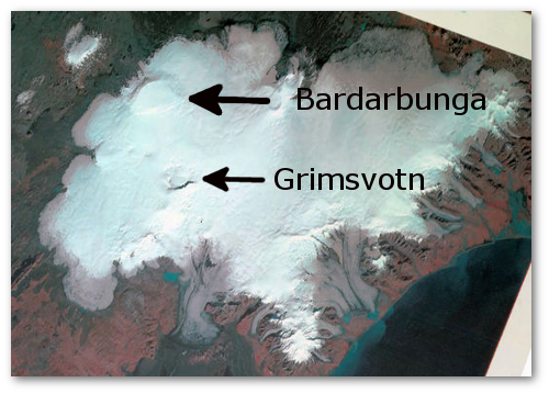 Unlabeled Landsat image from Iceland Met Office
