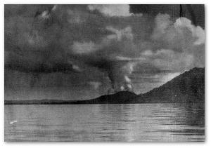This image of the 1937 eruption was reportedly taken from a rescue ship.