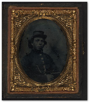 Unidentified African American soldier.  (Library of Congress)