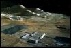 Lunar mass driver and outbuildings.