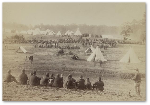 Confederate prisoners captured at the battle of Fisher's Hill, and sent to the rear under guard.  (Library of Congress)