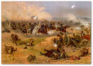 Sheridan's final charge at Winchester.  (Source)
