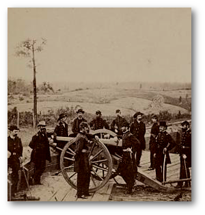 General Sherman and his staff in July 1864.  (Library of Congress)