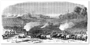 """Harper's Weekly"" view of the Darbytown battle."
