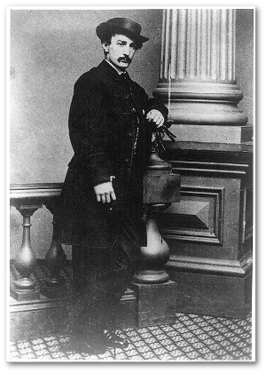 John Wilkes Booth, unknown date.  (Library of Congress)