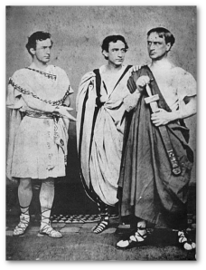 John Wilkes (Mark Antony); Junius, Jr., (Caesar); and Edwin (Brutus).  (Wikipedia)