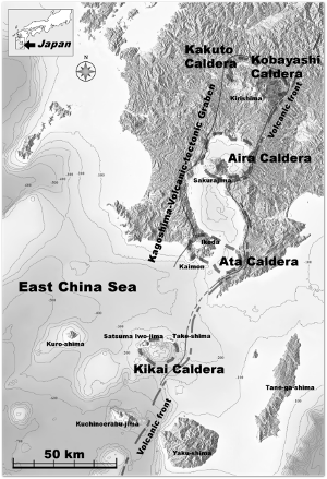 That's Japan's southern Kyusu Island in the upper right.  Source