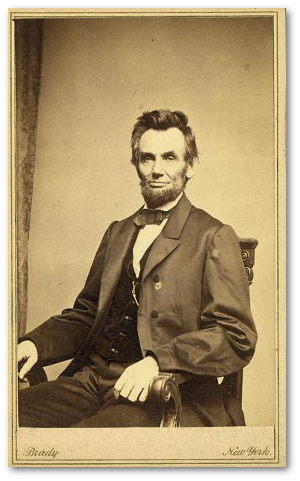 Abraham Lincoln, January 8, 1864.  (Library of Congress)