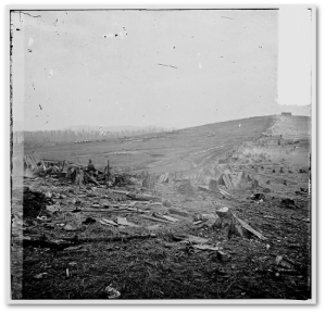 Part of the battlefield after the Battle of Nashville. (Library of Congress)