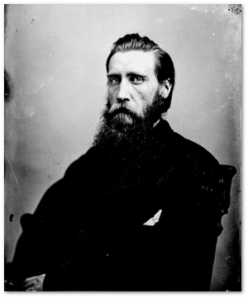 Hood would resign within a month.  Matthew Brady took this picture of him after the war.
