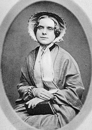 "Louise Chander Moulton, photographed a decade before the publication of ""At Fredericksburg.""  From: Lilian Whiting, Louise Chandler Moulton: Poet and Friend, p. 34."