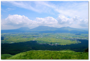 Mount Aso is another Ryukyu Arc sleeping giant.  These are the volcanic cones in the center of its caldera.  (Image: Miya.m)