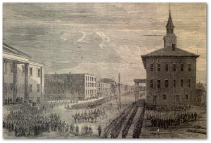December, 1864:  General Sherman enters Savannah, Georgia.  (Library of Congress)
