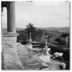 View of Nashville from the State Capitol, around the time of Hood's encampment against the city.  (Library of Congress)