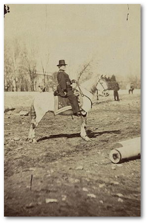 George, you're not out there posing on your horse again, are you?  - General Grant