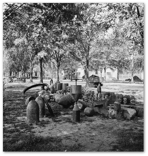 Confederate torpedoes, photographed at Charleston, CS, in April 1865.  (Library of Congress)
